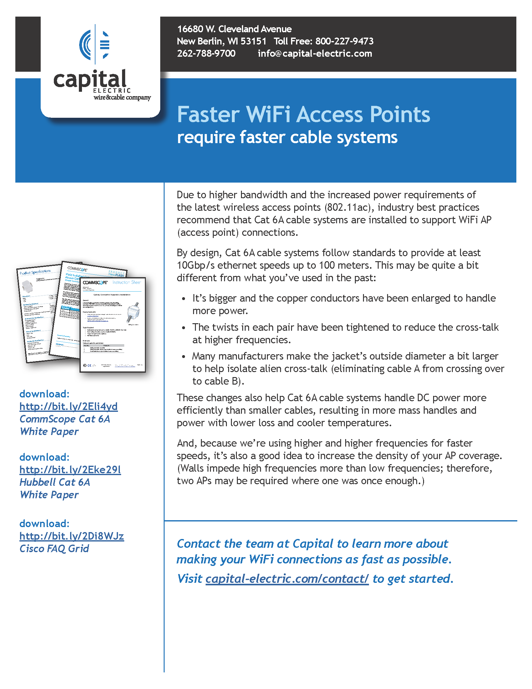 Faster WiFi Access Points require faster cable systems
